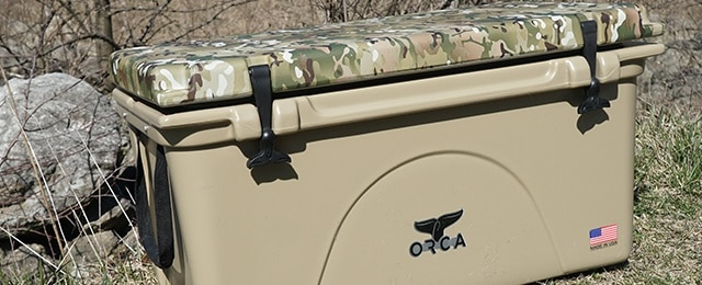 Orca Cooler Review Tan 75 Quart With Multicam Camo Hydro Dripped Lid