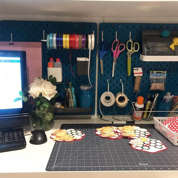 Organized Art Room Pegboard Ideas Rajddecor
