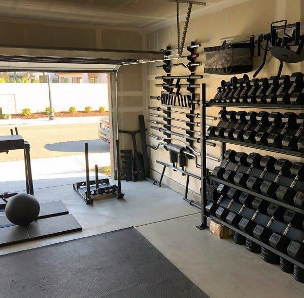 Organized Garage Gym Ideas