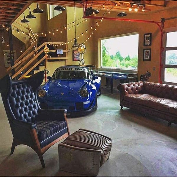 Organized Garage Lounge Storage Ideas