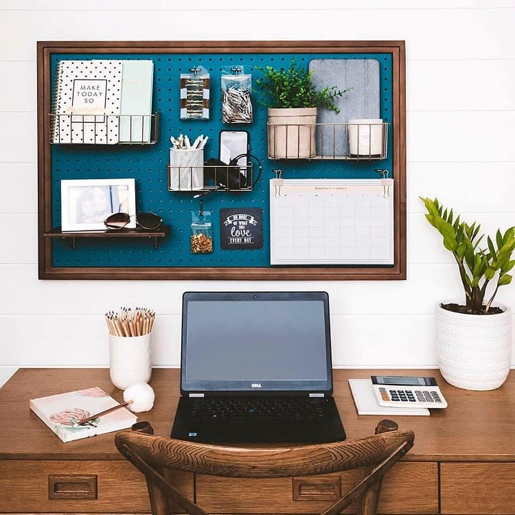 Organized Home Office Pegboard Ideas Pinpegandhome