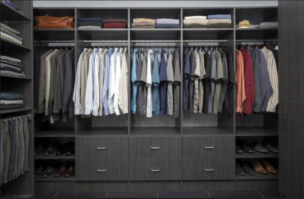 Organized Walk In Closets For Guys