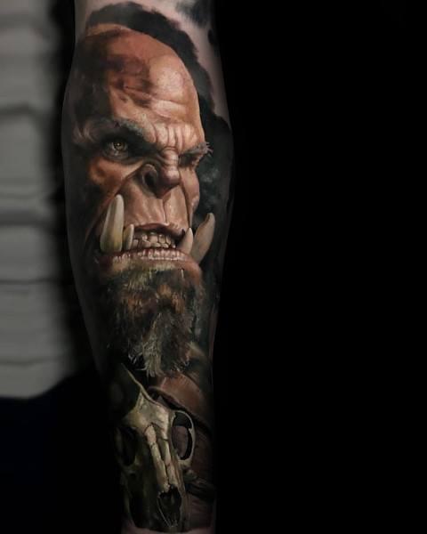 Orgrim Doomhammer Guys Designs World Of Warcraft Tattoos