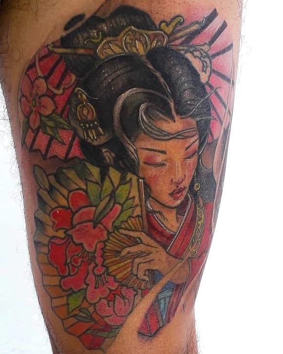 Oriental Eternal Japanese Geisha Tattoo