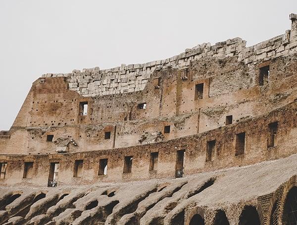 Original Colosseum Top Stone Construction