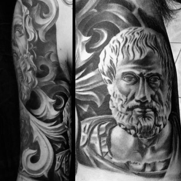 Ornate 3d Inner Arm Guys Socrates Tattoos