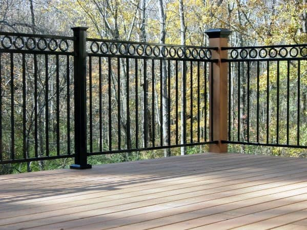 Ornate Backyard Ideas Metal Deck Railing