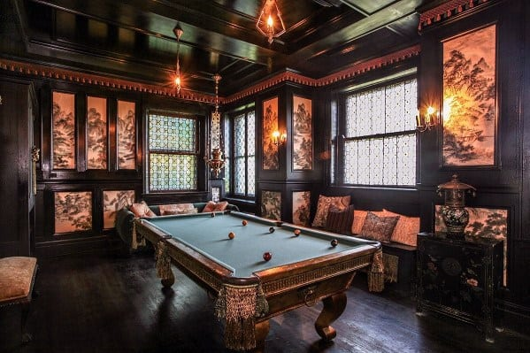 Ornate Billiards Room Ideas