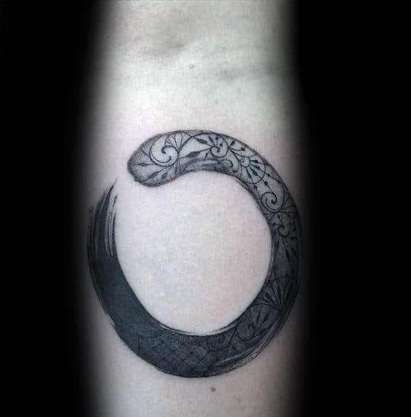 Ornate Enso Guys Forearm Tattoo