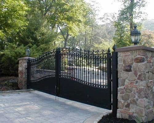 Ornate Iron Driveway Gate Ideas