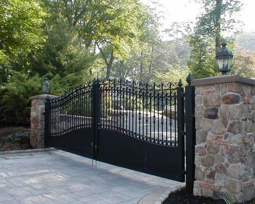 Ornate Iron Driveway Gate Ideas