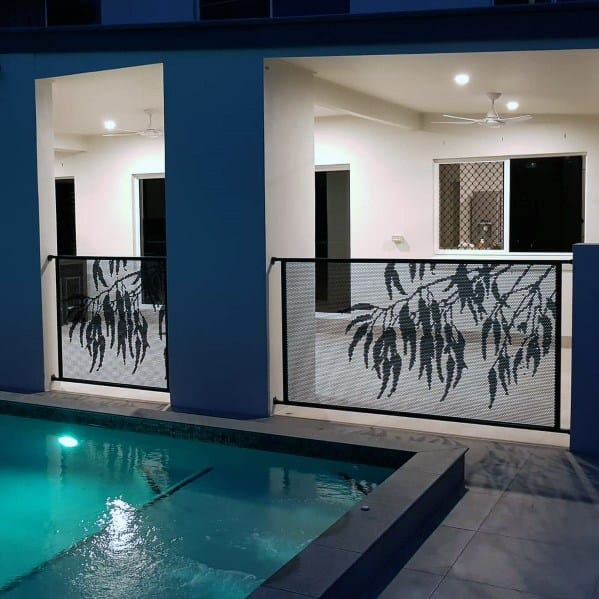 Ornate Metal Design Ideas For Pool Fence
