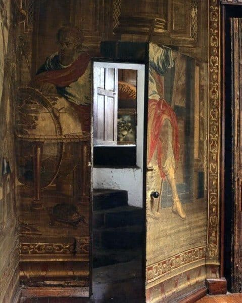 Ornate Painting On Walls Hidden Door Interior Ideas
