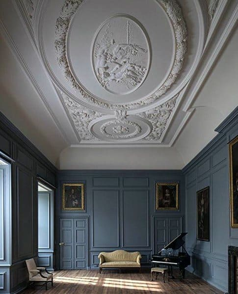 Ornate Pattern Ceiling Interior Ideas Crown Molding