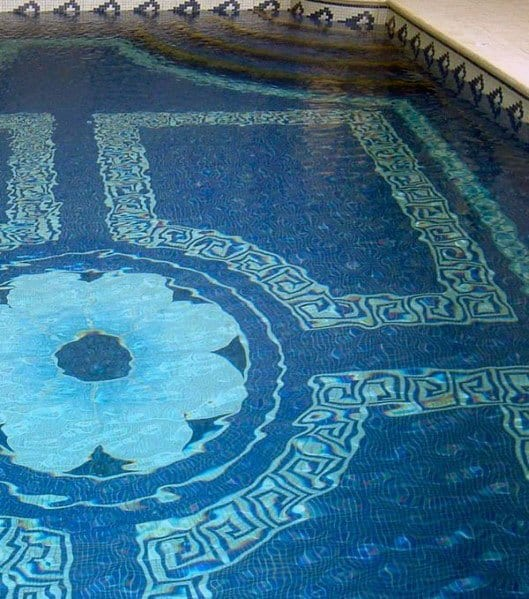 Ornate Pattern Cool Pool Tile