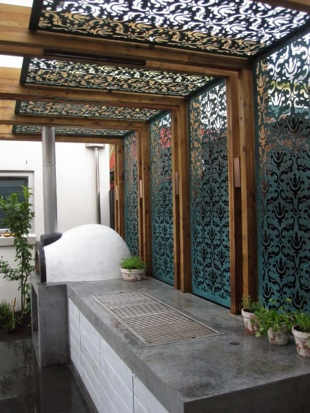 Ornate Patterns Metal Pergola Ideas