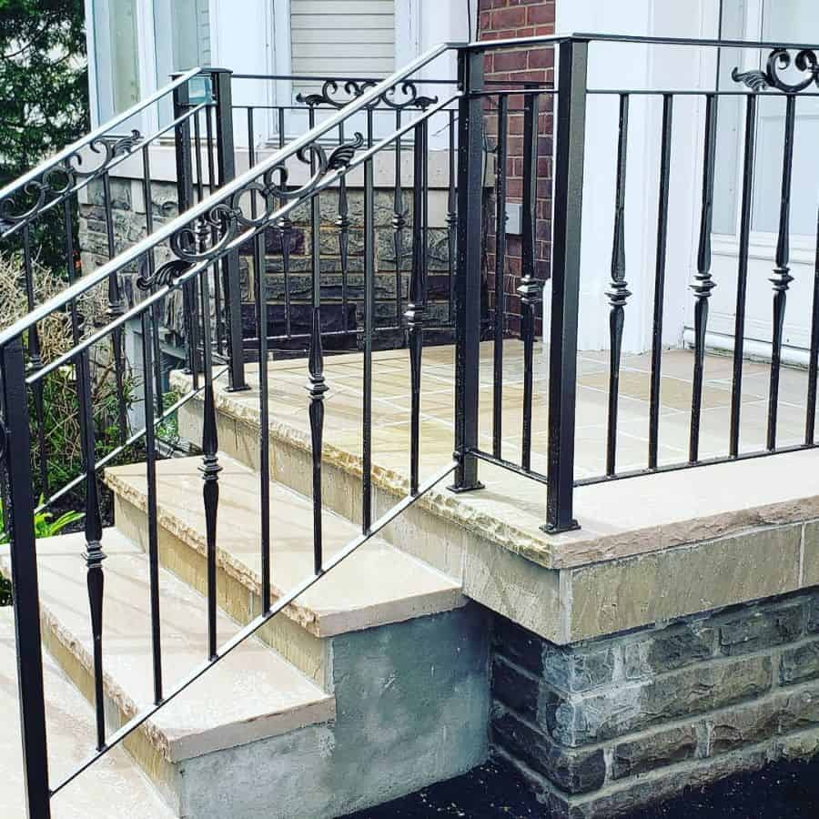Ornate Scroll Porch Railing Ideas Ebenezerrailings