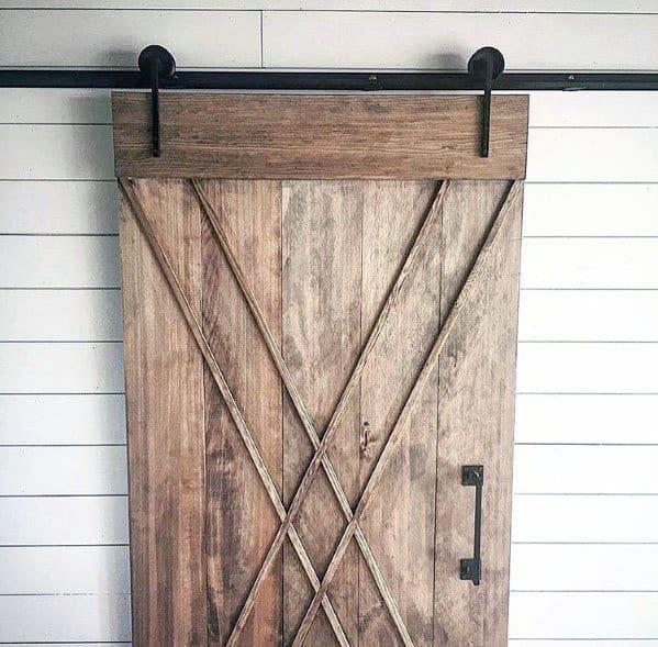 Ornate Wood Interior Ideas Barn Door