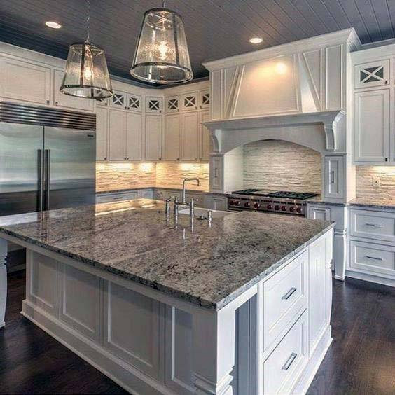 Ornate Wood Kitchen Hood Ideas Painted White
