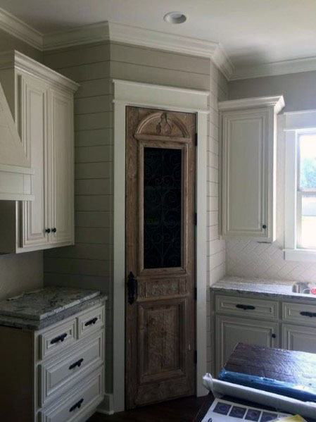 Ornate Wood Small Interior Kitchen Pantry Door Design