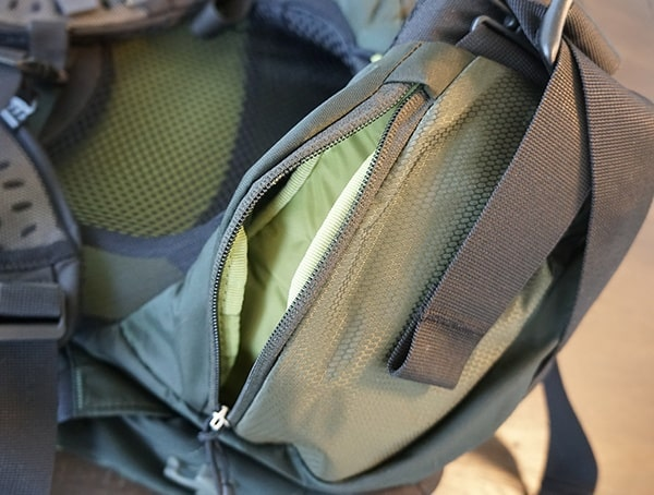 Osprey Aether Ag 85 Review Belt Hip Pocket Opened