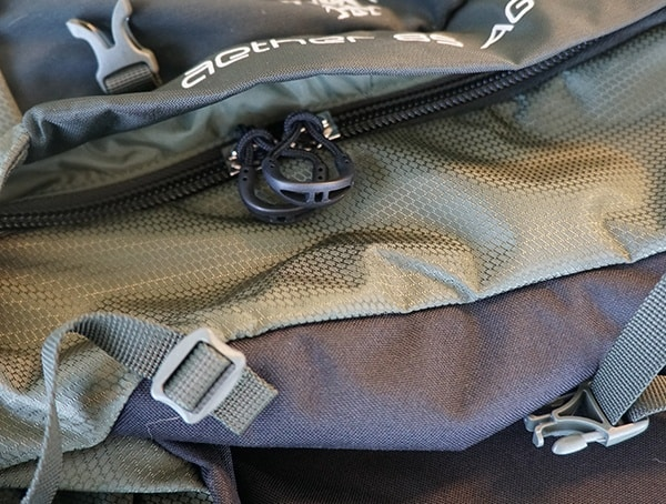 Osprey Aether Ag 85 Review Bottom Storage Cargo Zipper