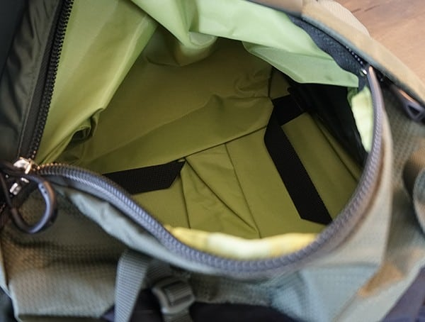 Osprey Aether Ag 85 Review Bottom Storage Compartment Open