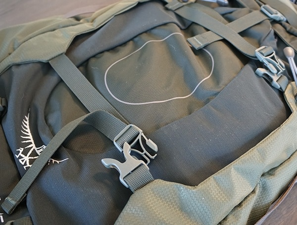 Osprey Aether Ag 85 Review Compression Straps Front Of Pack Buttons