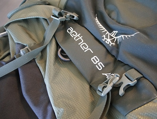 Osprey Aether Ag 85 Review Logo Detail Stiched In Backpack