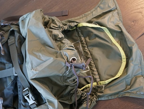 Osprey Aether Ag 85 Review Top Detail