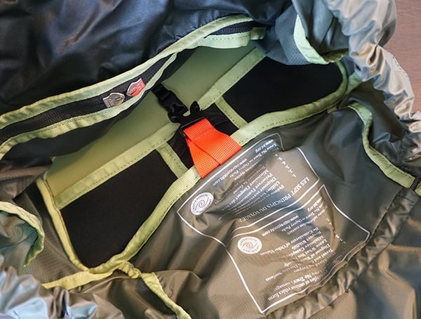 Osprey Aether Ag 85 Review Top Of Pack Interior