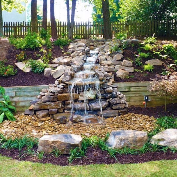 Outdoor Backyard Waterfall Designs - Top 70 Best Backyard Waterfalls - Water Feature Design Ideas