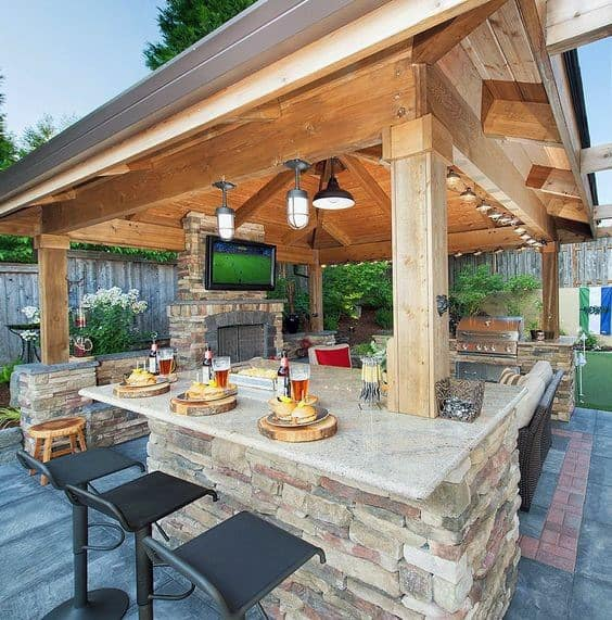 Bar Top Design Ideas: Top 50 Best Backyard Outdoor Bar Ideas