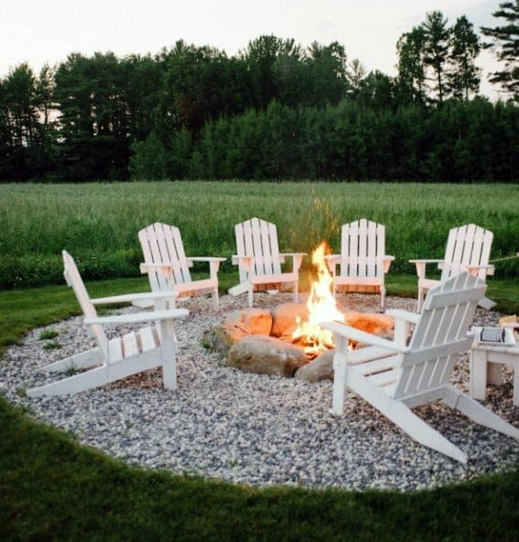 Outdoor Circle Fire Pit Seating Ideas Inspiration