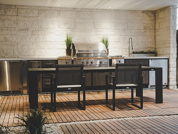 Outdoor Covered Patio Kitchen 2019 New American Remodel.