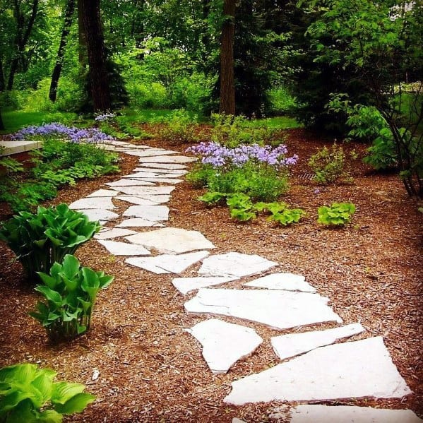 Outdoor Designs Flagstone Walkway Stepping Stones Backyard