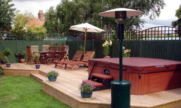Outdoor Designs Hot Tub Deck Backyards