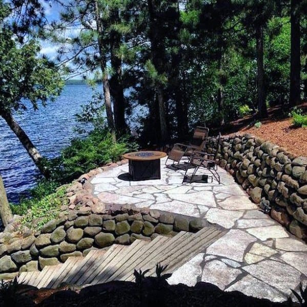 Outdoor Home Design Ideas Flagstone Patio