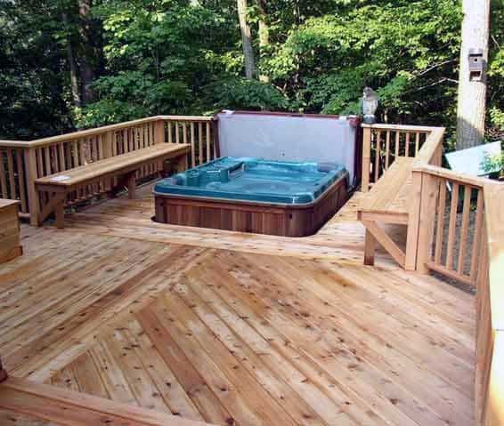 Outdoor Hot Tub Deck Design