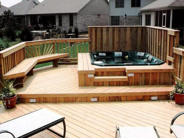 Outdoor Ideas Hot Tub Deck