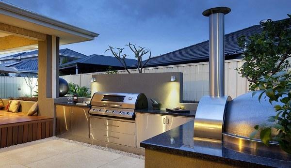 Outdoor Kitchen Fireplace Ideas