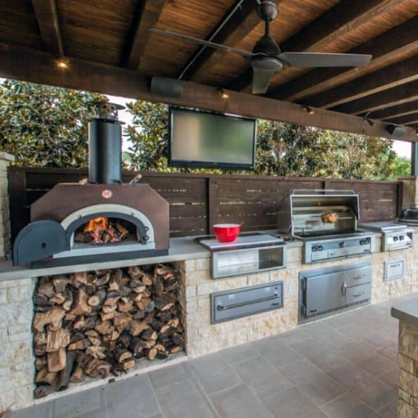 Outdoor Kitchen Unique Built In Grill Designs