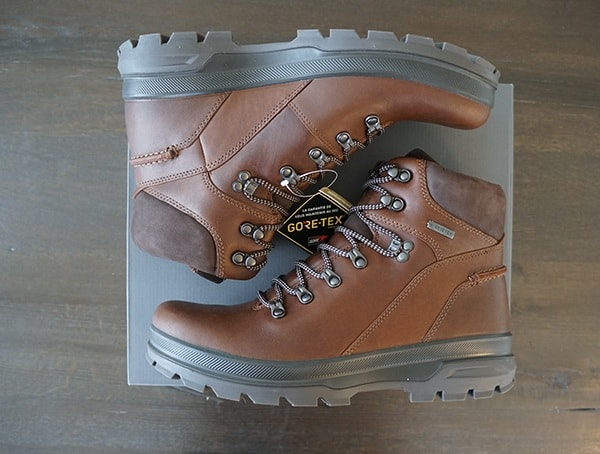 Outdoor Leather Boots Mens Ecco Rugged Track Gtx Hi