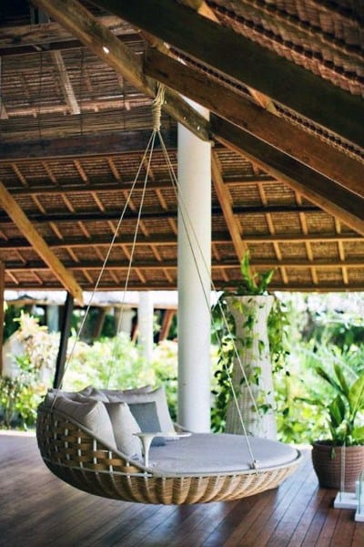 Outdoor Patio Cool Hanging Bed Ideas