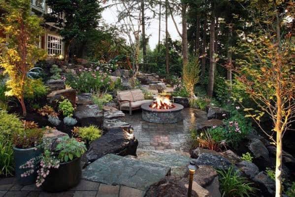 Outdoor Patio Firepit Design
