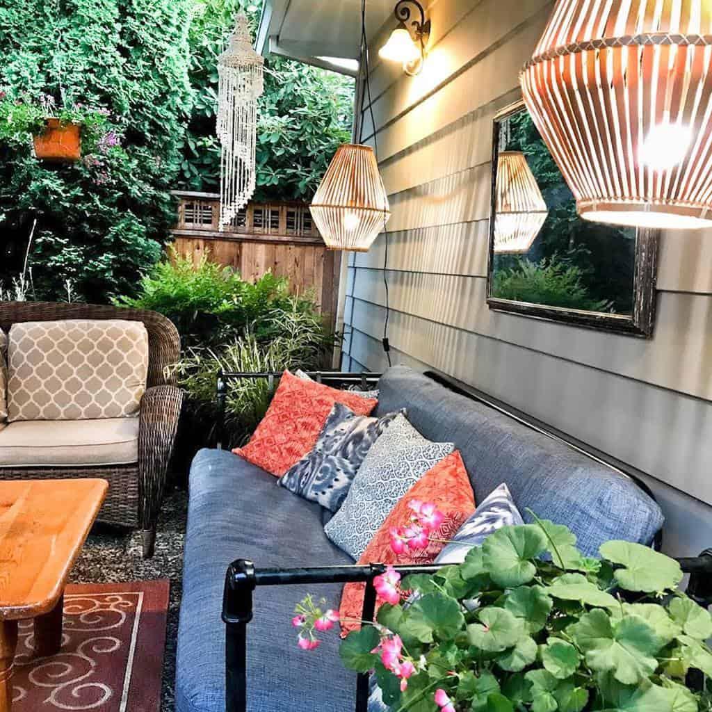 outdoor patio lighting ideas aestheticofevika