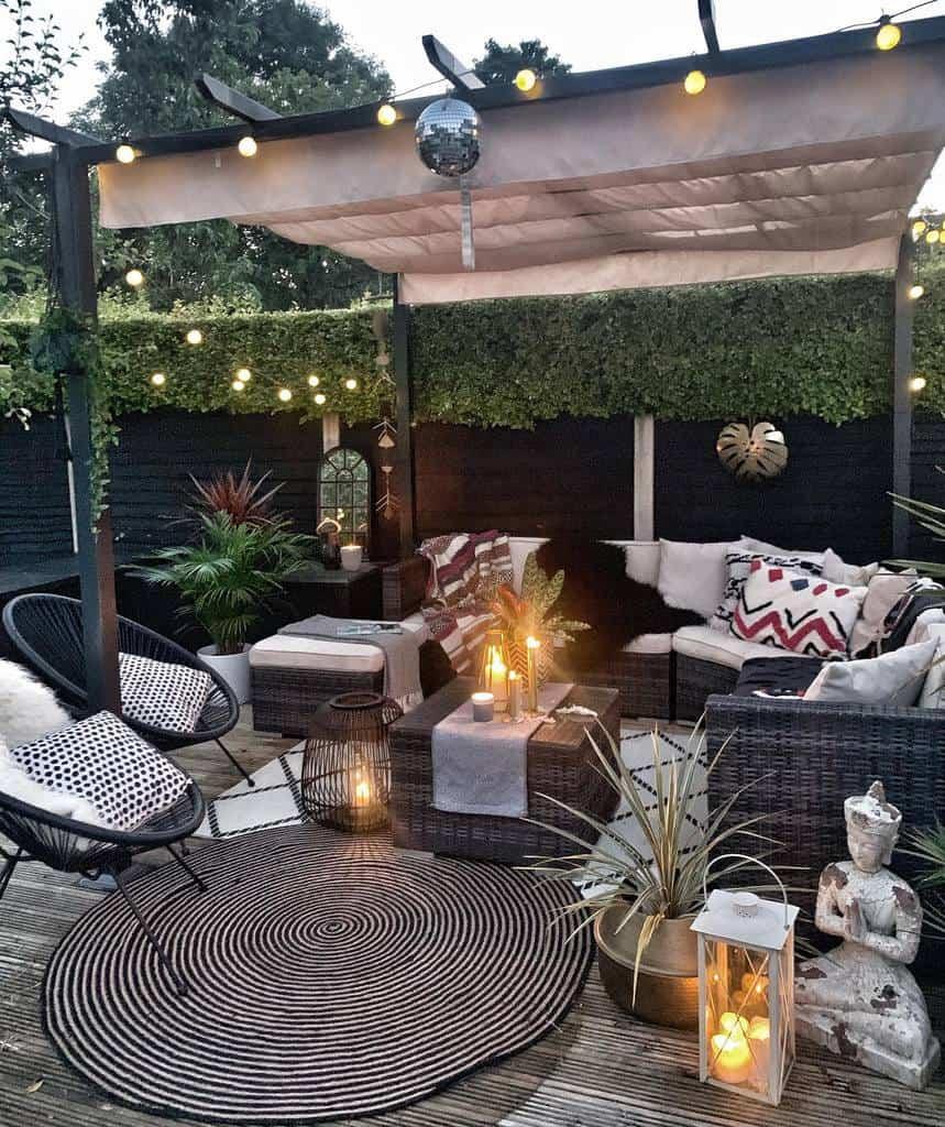 outdoor patio privacy ideas barnestowers