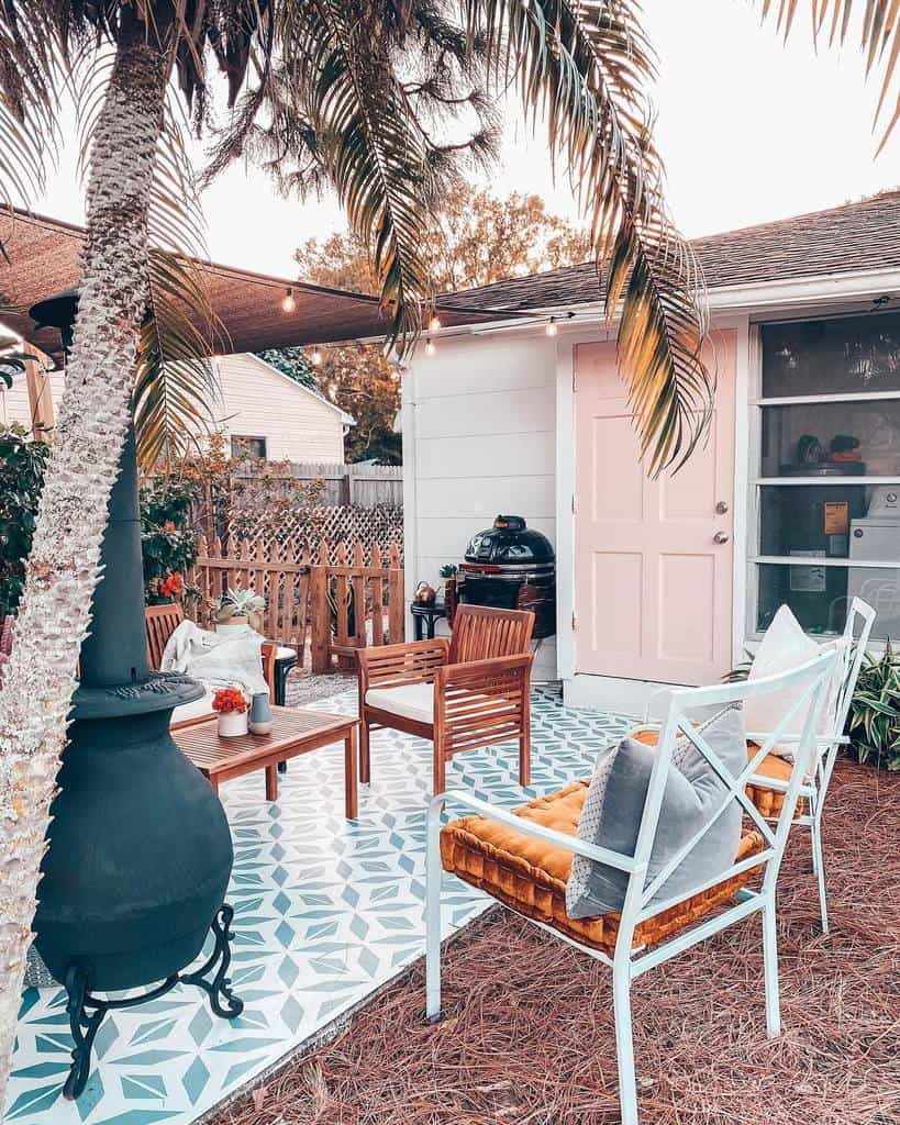outdoor patio privacy ideas blushingbungalow