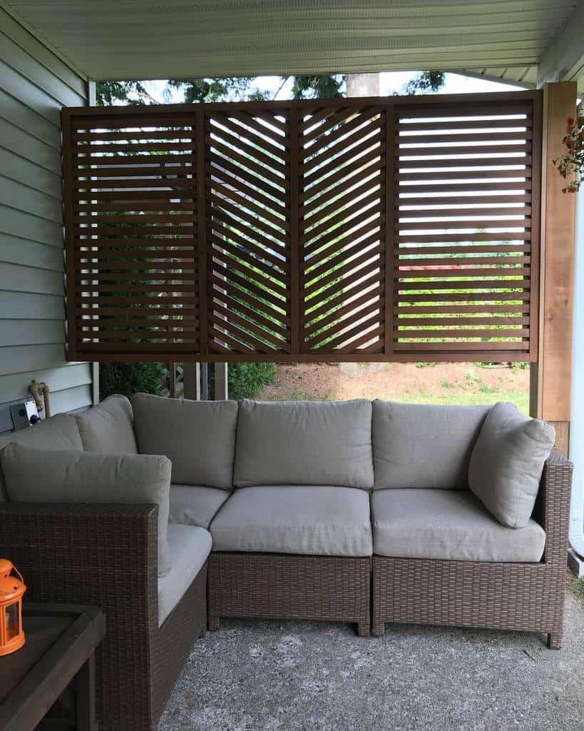 outdoor patio privacy ideas tlctinyhomes