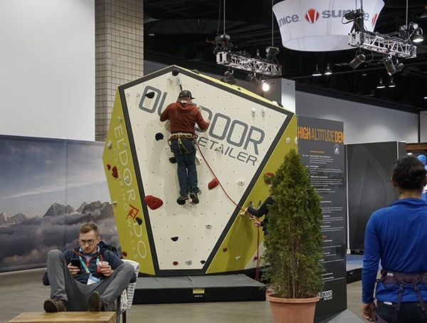 Outdoor Retailer Winter Market 2018 Climbing Rock Wall
